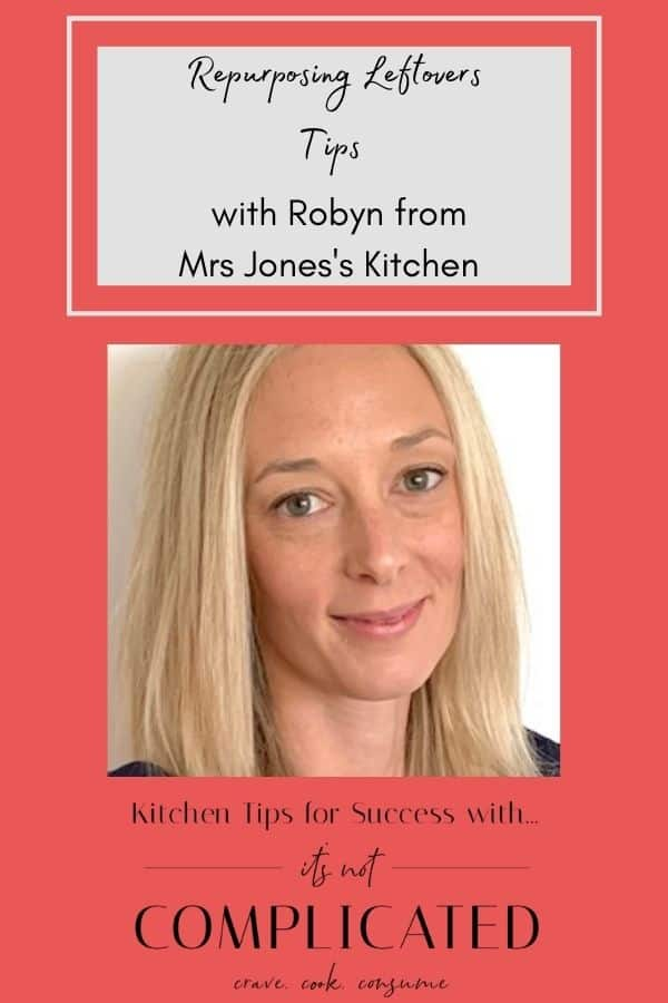 Pinterest image with photo of Robyn Jones and text overlay.