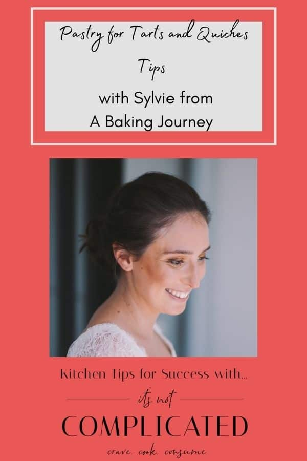 Pinterest Image with Photo of Sylvie from A Baking Journey