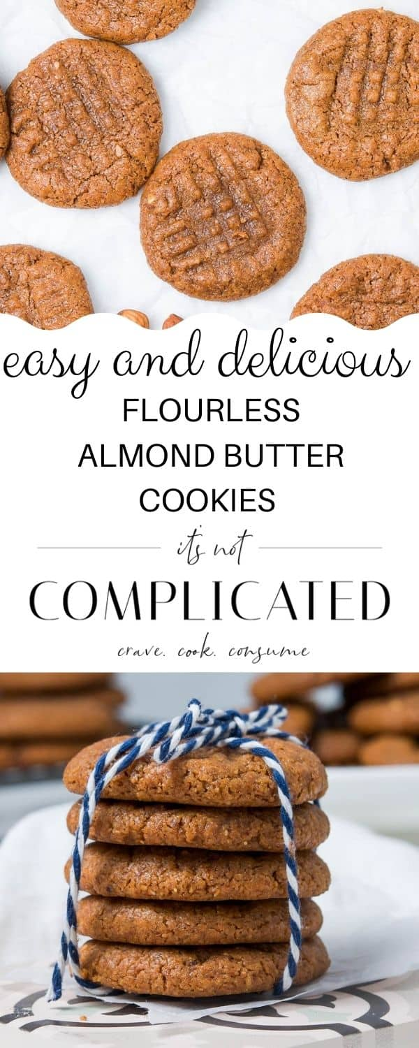 Pinterest image with photos of recipe top and bottom and text overlay in centre.
