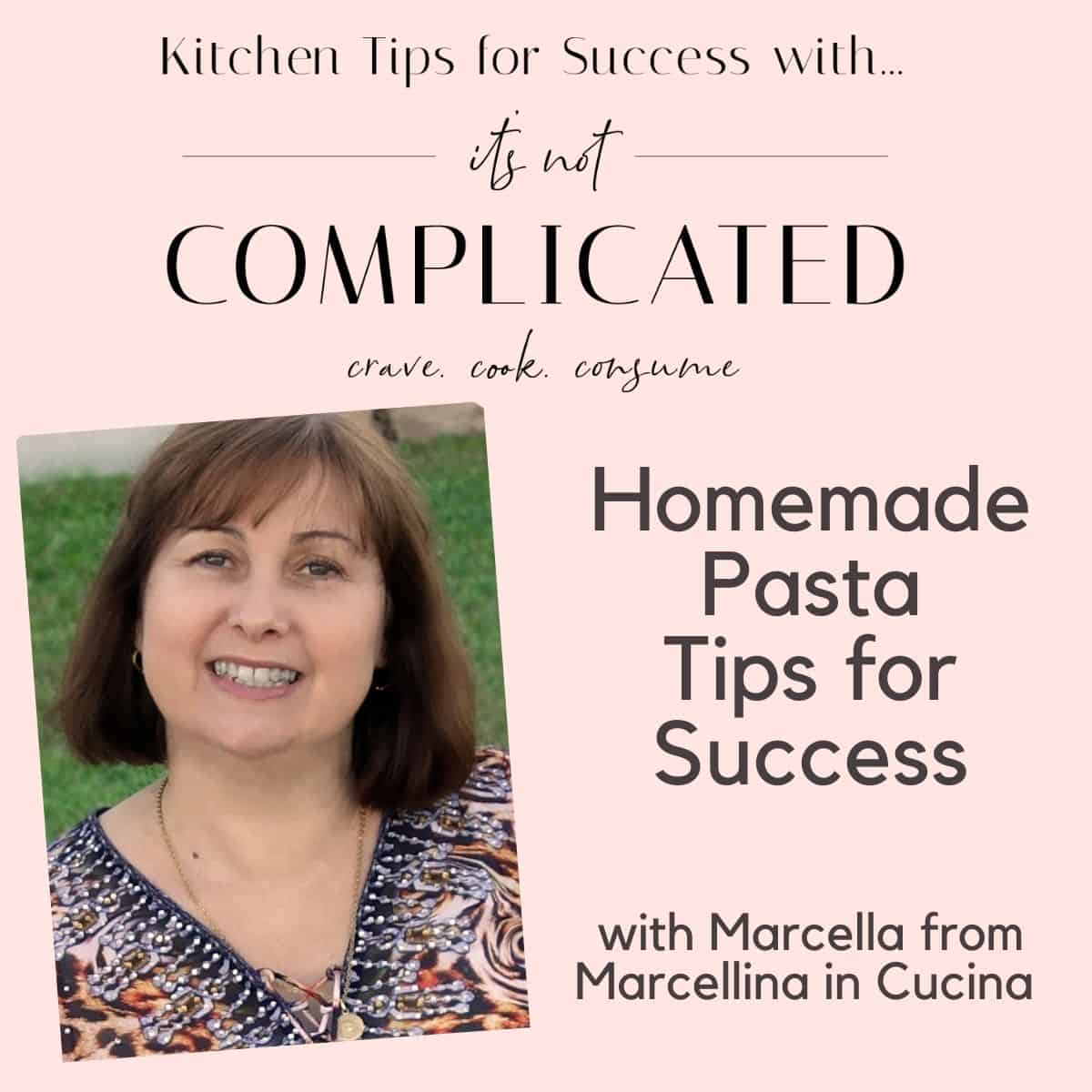 poster of Marcella for Kitchen Tips on homemade pasta