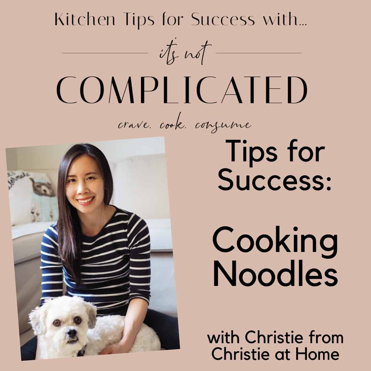 Poster for Cooking Noodles Tips for Success with Christie.