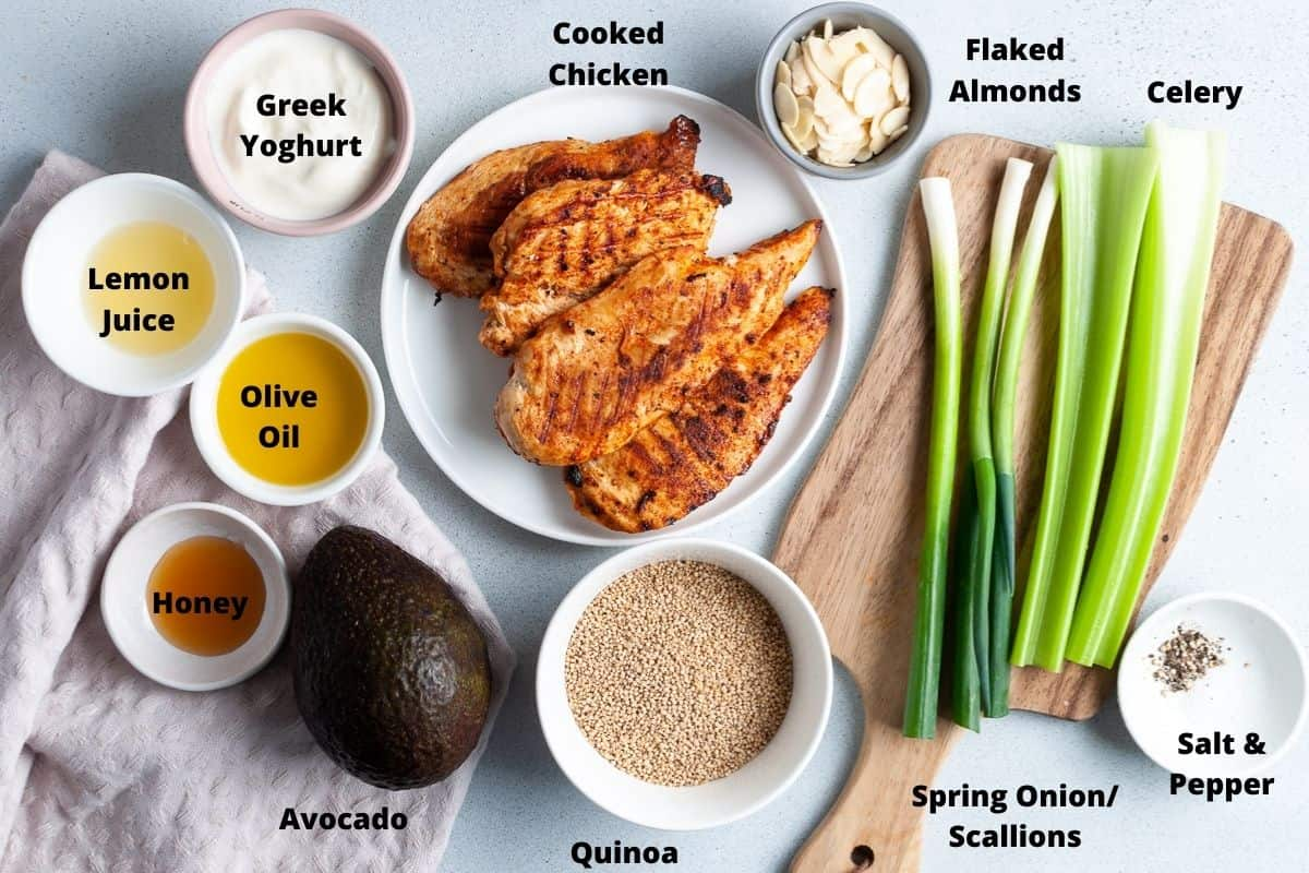Ingredients in this recipe on a white background.